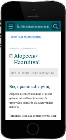 De website van Klinischediagnostiek.nl op de iPhone