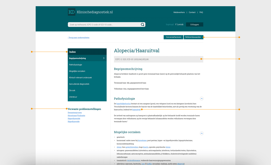 De website van Klinischediagnostiek.nl
